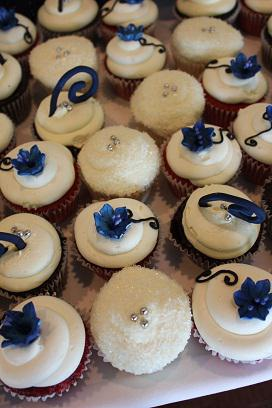 Cup Cakes Royal Blue