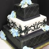 black and blue wedding cakes