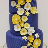 Blue And Yellow Wedding Cake