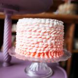 Pink Ombre Ruffle Table Cake